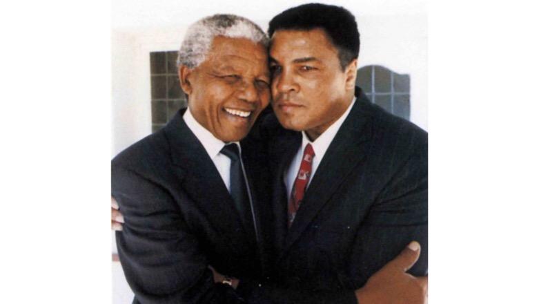 Muhammad Ali and Nelson Mandela