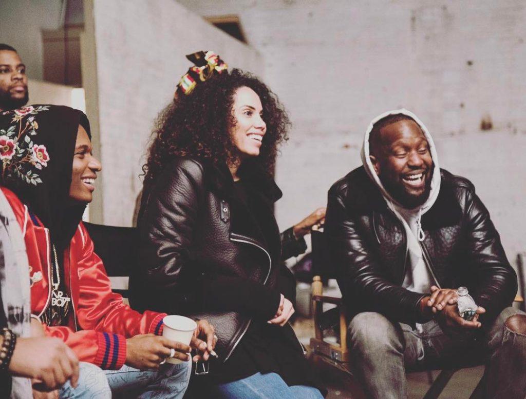 Wizkid alongside Jada Pollock and Dumi Oburota, two of his three managers