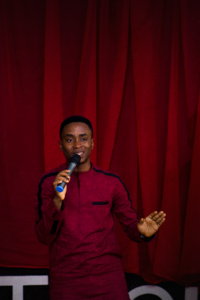 Chris Kwekowe speaking at TedXBellsTech