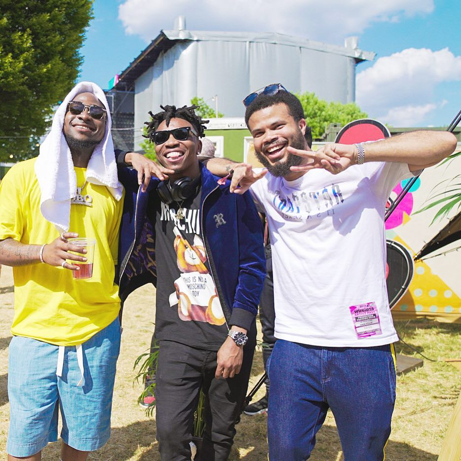 Davido and Not3s Bring Out Mayorkun and Maleek Berry At Wireless Festival