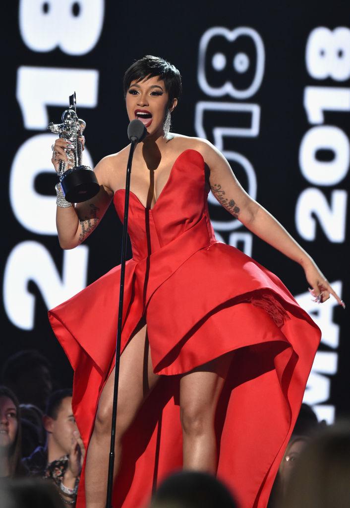 Cardi B at the 2018 MTV VMAs