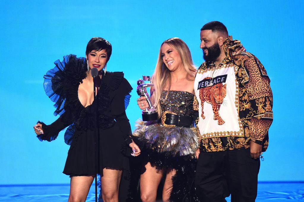 Cardi B, JLo and DJ Khaled at the 2018 MTV VMAs